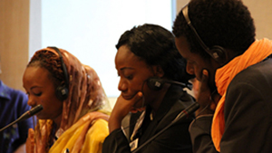 "Joannie Bewa attended the IVLP ""Young African Leaders"" program with 19 of her colleagues from across Africa."
