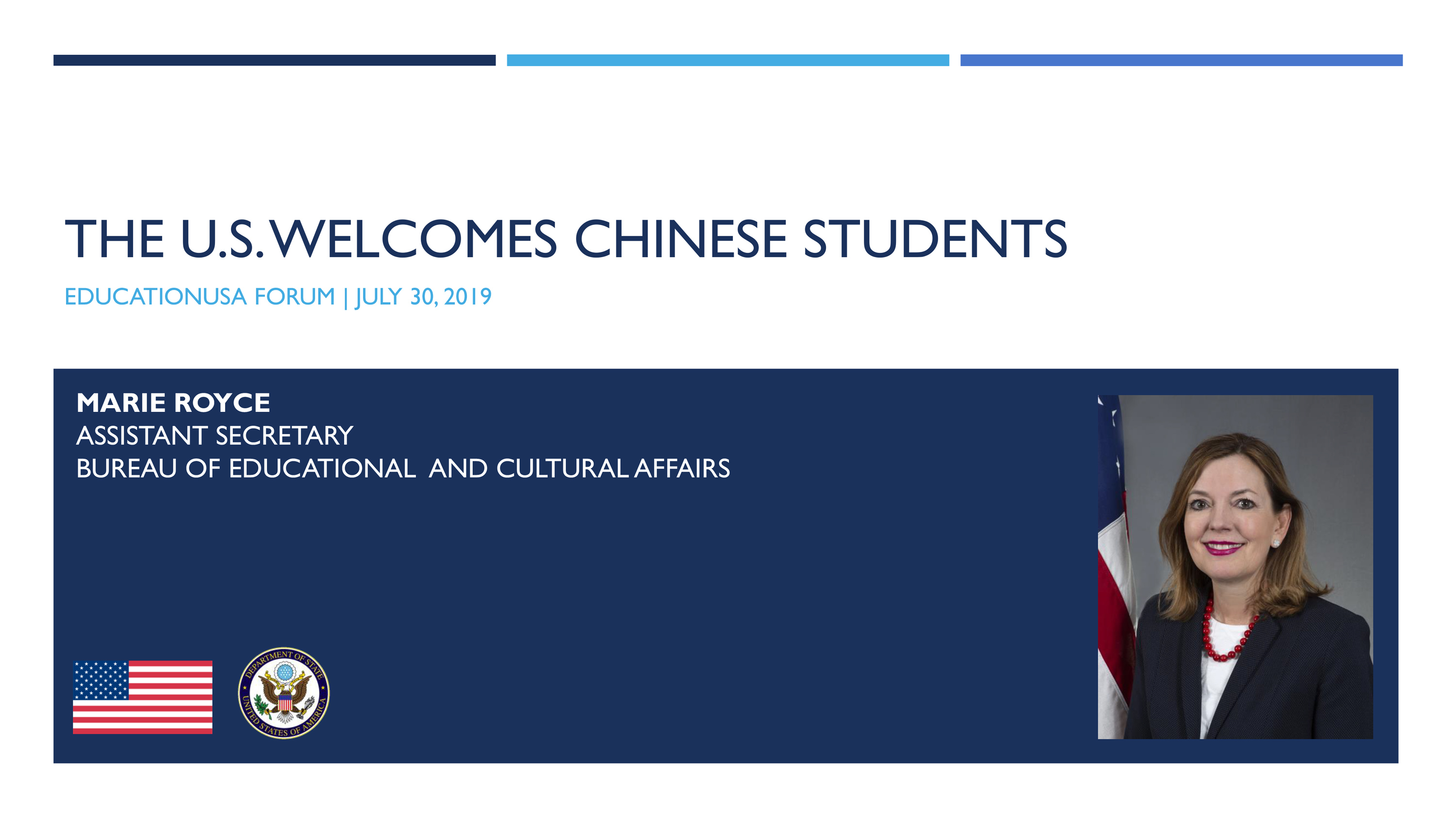 The U.S. Welcomes Chinese Students