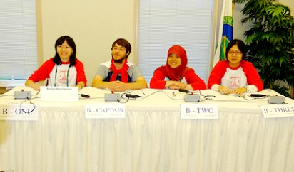 "Sutria ""Cucut"" Syati (YES Indonesia 2011-2012) competing in National Science Bowl with Wilson High School team; Washington DC, April 29, 2012."
