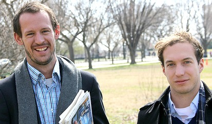 Gareth Parker and Will Emmett of Australia in Washington, DC during their IVLP.