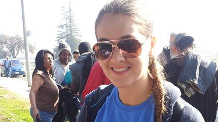 Khrystyna volunteering