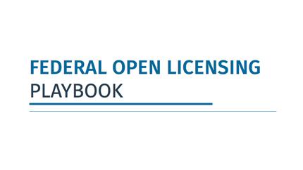 Open Licensing Playbook