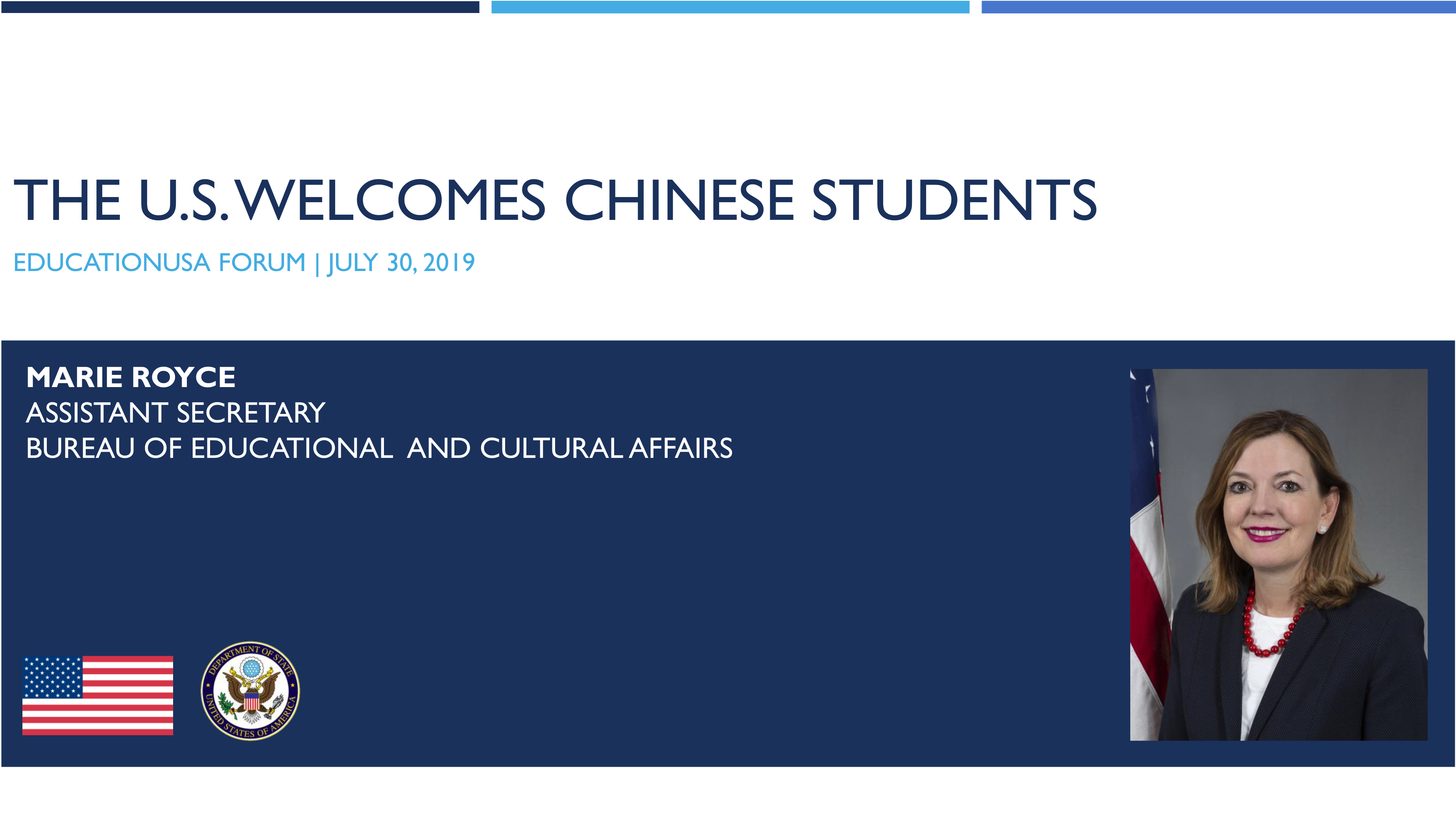 United States Welcomes Chinese Students
