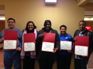 Delegates show off their certificates from NIU