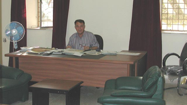 Refurbished administrative office at the Iraq Museum with new furniture, August 2003