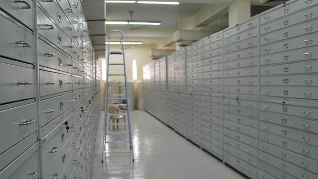 The Department of State provided new cabinets and shelving for all three floors of a previously empty storage building at the Iraq Museum, June 2010