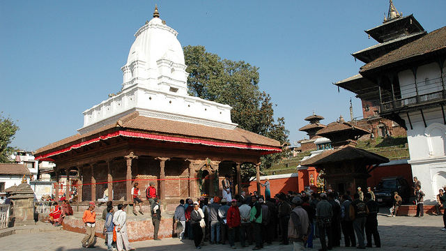 Kageswar Mahadev Temple, Kathmandu Durbar Square, Nepal: Now restored, the mid-18th-century Kageswar Mahadev temple is a popular meeting place in Kathmandu Durbar Square.