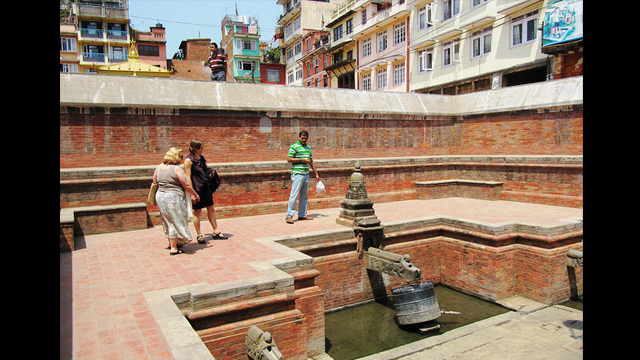 Nag Bahal Hiti, Lalitpur, Nepal: This historic step well in Lalitpur draws fresh drinking water from an ancient water supply system.