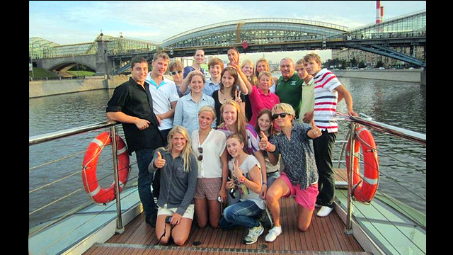 The American delegation experiences a cultural boat tour after a day of intense practices.