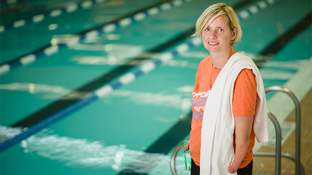 Copenhagen, Denmark native Anne-Dorte Andersen  excelled in swimming, became a paralympic athlete at age 15, and now works as a sports project coordinator for youth with disabilities.