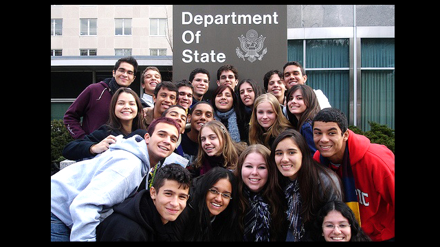 Youth Ambassadors at the U.S. Department of State.