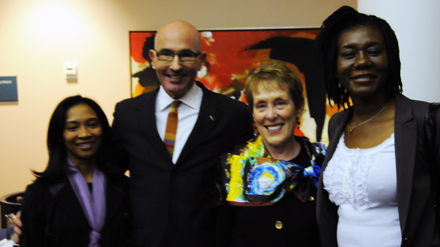 FSB Chairman Tom Healy and FSB Member Betty Castor with Fulbrighters.