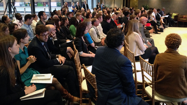 "Over 120 guests attended the ""Fulbright in a Connected World"" panel, while over 1,000 more followed the discussion on Twitter and Facebook, or watched the livestream online."