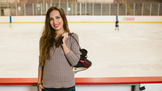 Olga Dolinina lifelong enthusiasm for sports contributed to her becoming one of the only women working in the field of sports administration in Ukraine and one of only a handful of women employed by the prestigious Donbass Hockey Club in Donestsk.