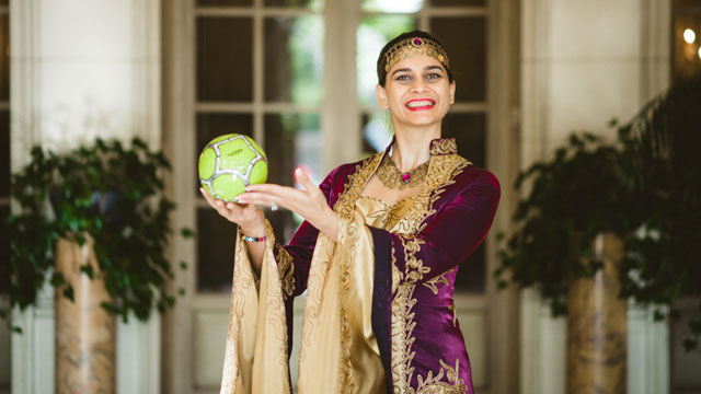 Baku, Azerbaijan native Salhat Abbasova serves on the committee lobbying for the 2020 Summer Olympics to be held in Baku and seeks to start an NGO that promotes sport as a tool for peace building and empowerment.
