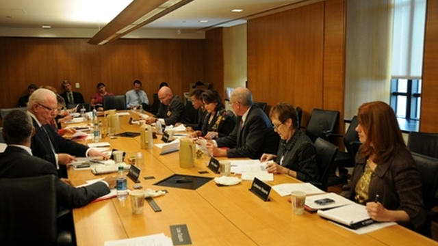 Fulbright Foreign Scholarship Board Members discussed policy and heard from Fulbright alumni at the quarterly meeting.