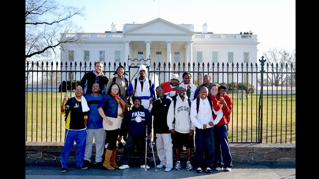 The delegation of South African sports visitors spend a day touring Washington, D.C.