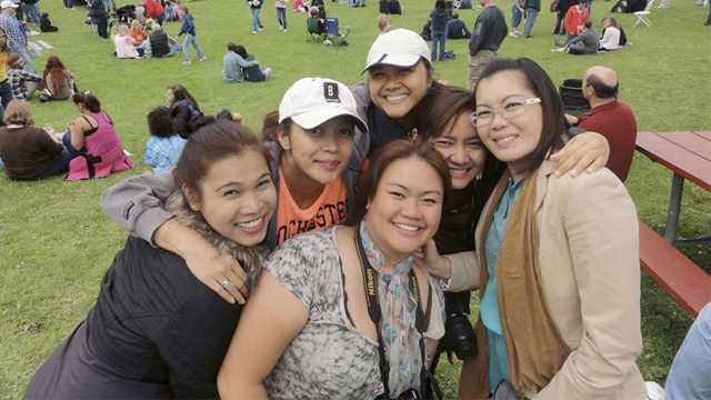 EMPOWER participants from the Philippines enjoy an afternoon at Rochester's Lilac Festival.