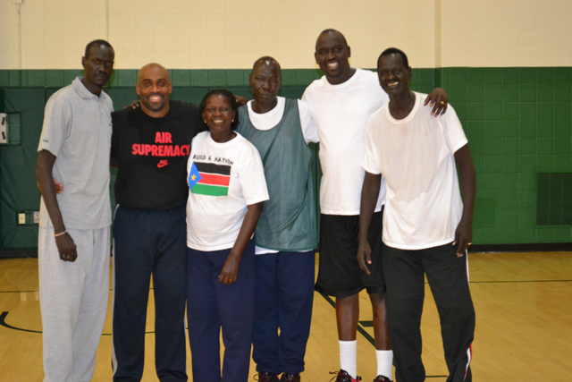 "The South Sudanese coaches join together after an intensive ""training the trainer"" clinic."