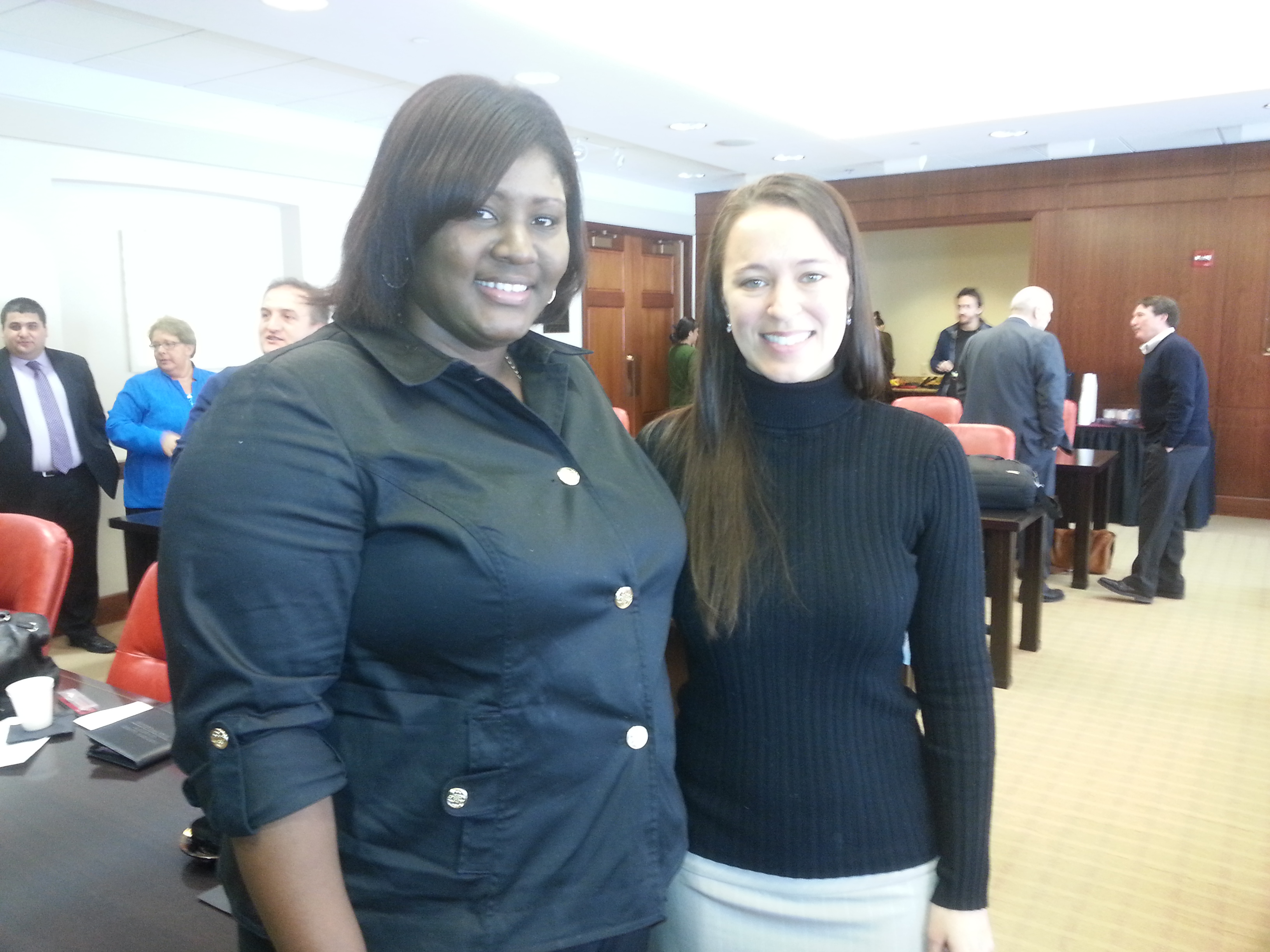 Delegate Jewel Crawford with NIU team member Jenn Jacobs