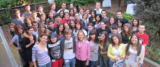 Ambassador Mary Burce Warlick and the 2010/2011 A- SMYLE generation during a recent re-entry seminar in Belgrade.