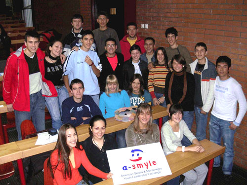 A-SMYLE students pose for a group photo.