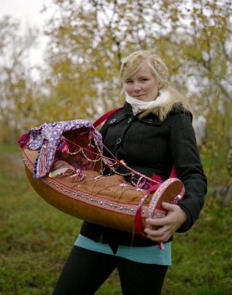 Sámi Woman and Baby