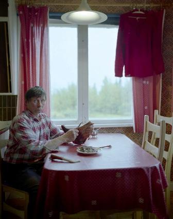 Sámi Man in Kitchen