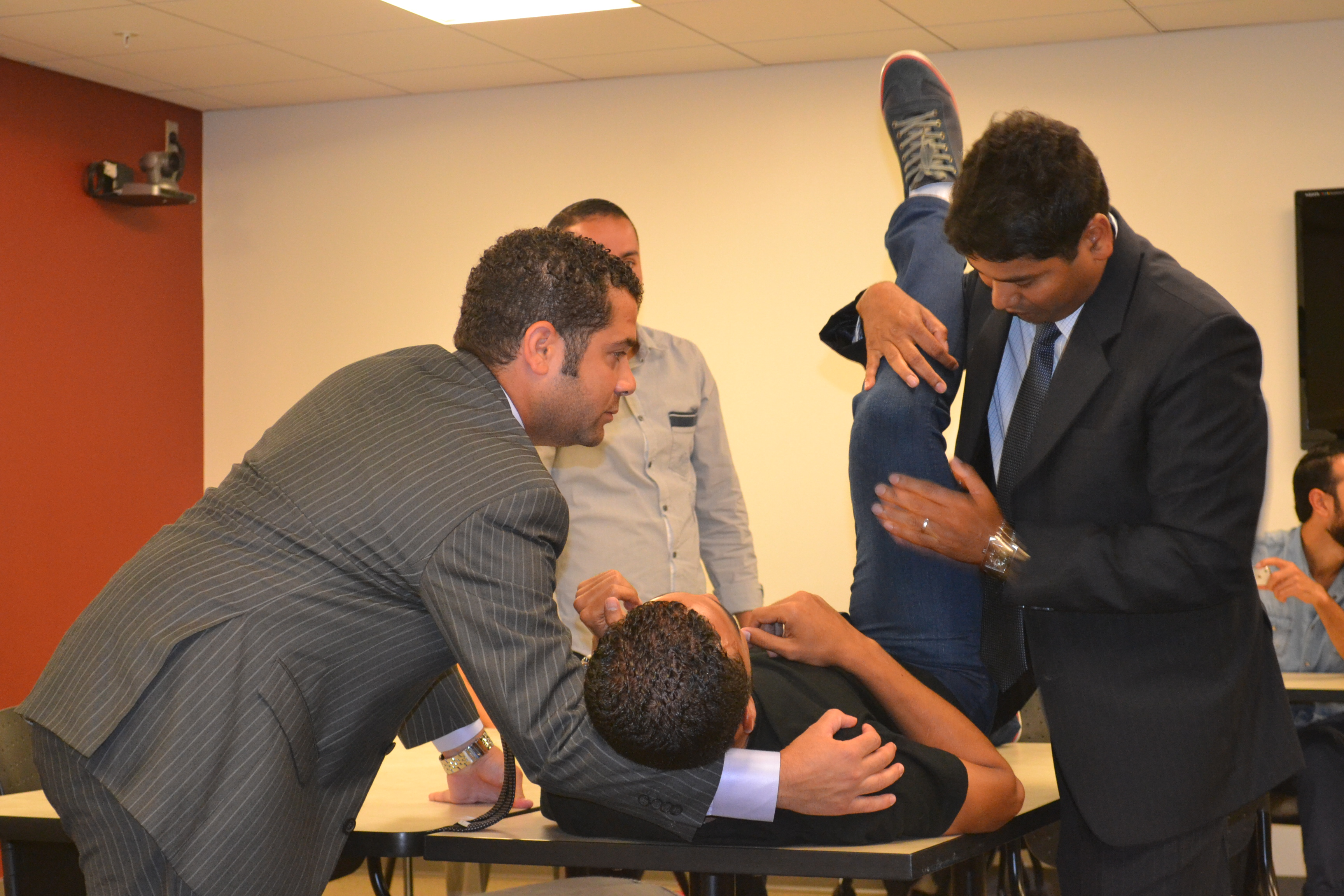 The coaches learned about medical prevention and treatment strategies specific to soccer injuries.