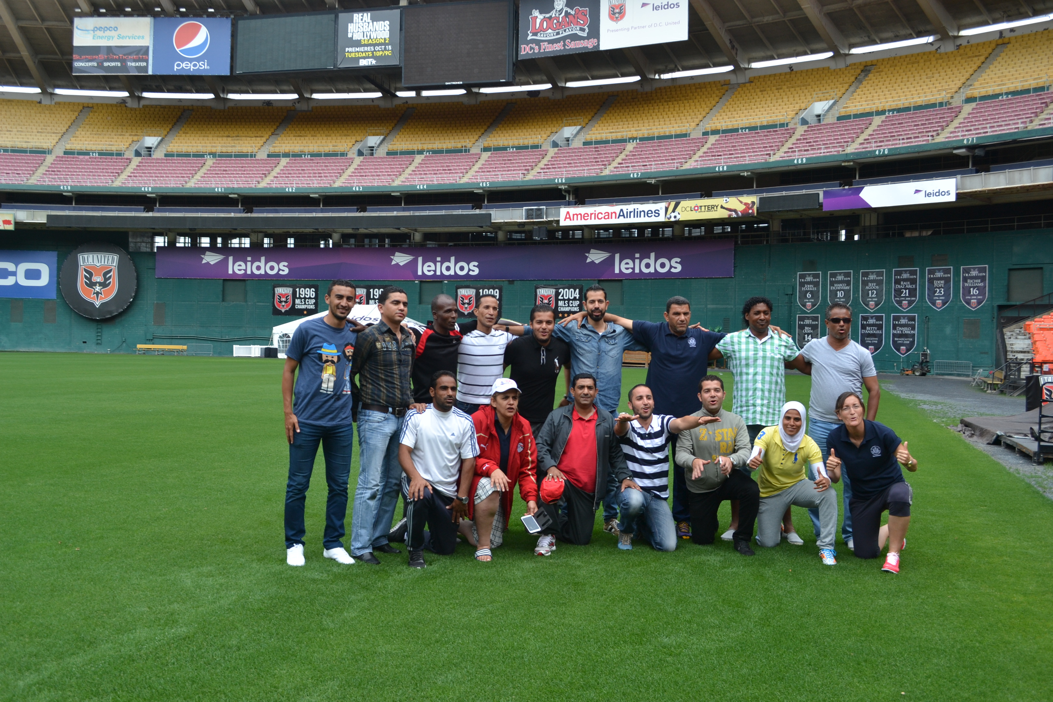 To kick off the World Cup in Brazil the NEA soccer coaches visit RFK stadium, home of DC United, to watch the opening game.