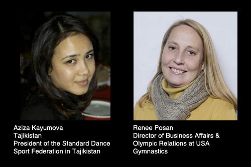 Aziza Kayumova and Renee Posan