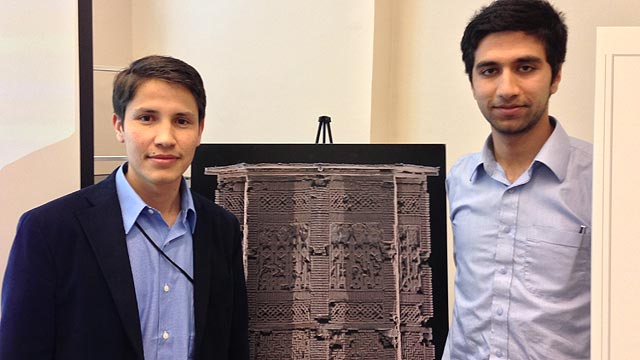 Ayaz and Waris spent 10 weeks in Washington, DC working to help fully document the Ghazni Towers