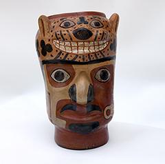 huari ceramic head