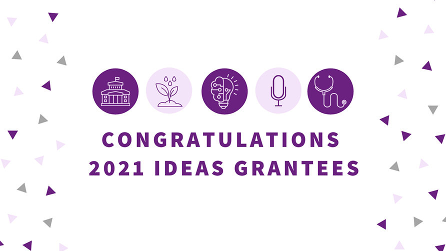 ideas grants announcement banner 2021