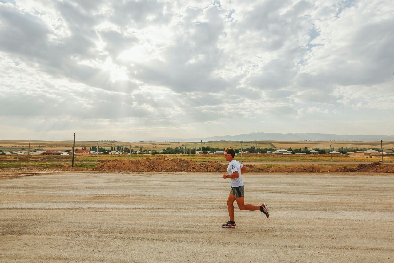 Dean running solo