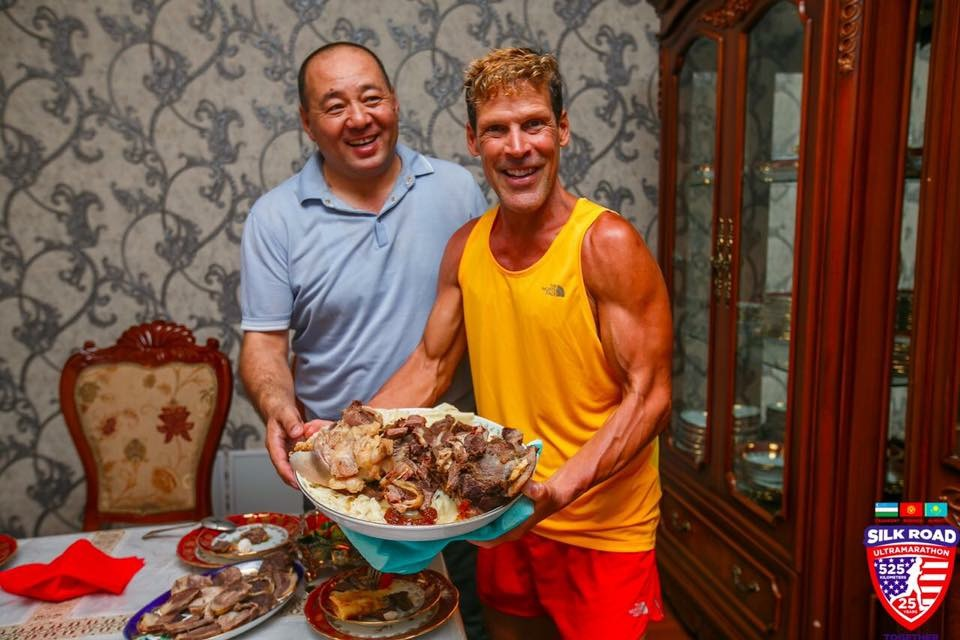 Dean is presented with a local dish