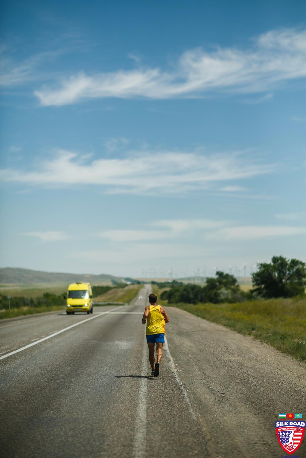 Dean running on highway