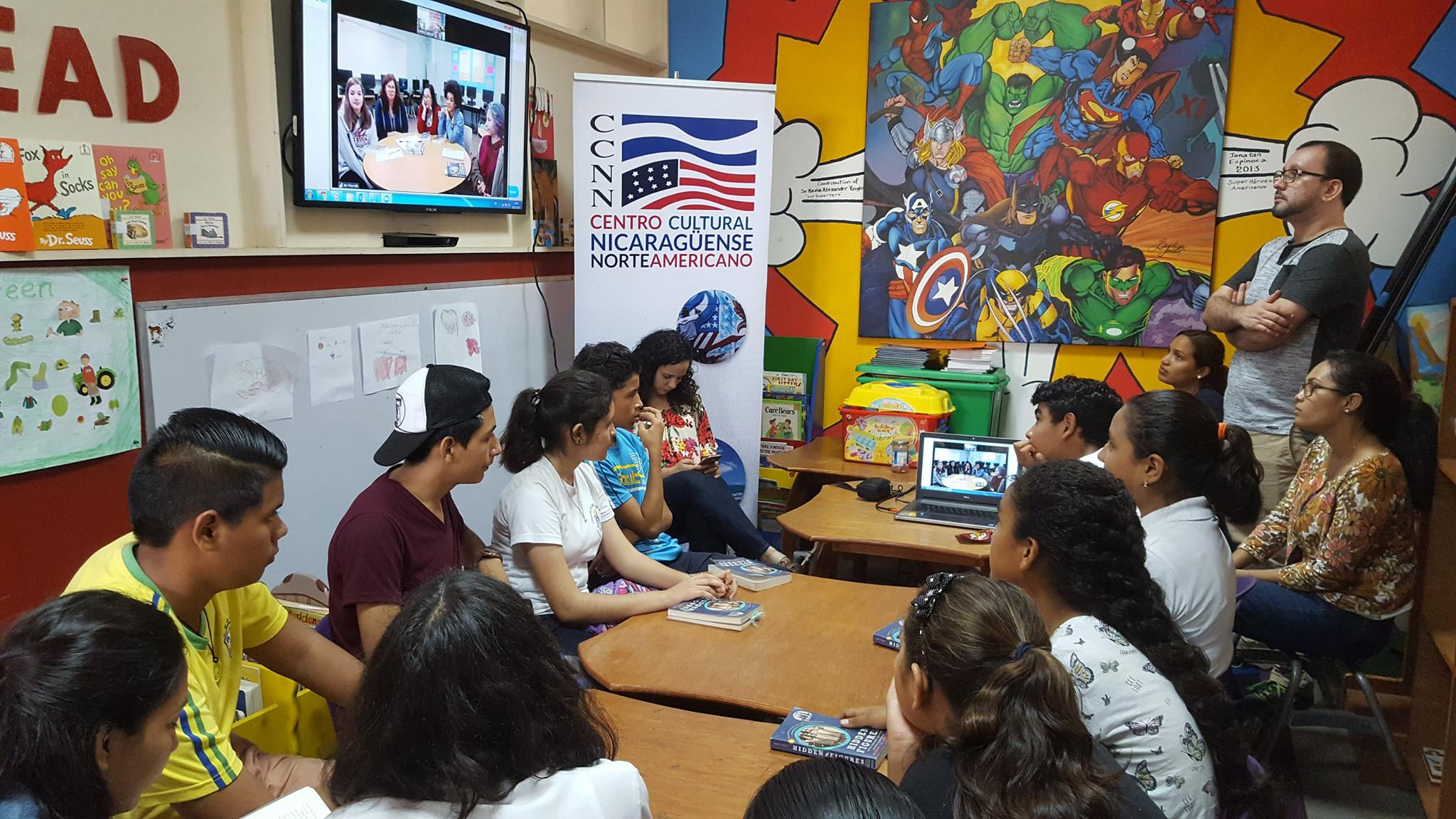 Managua Access students connecting with Greensboro