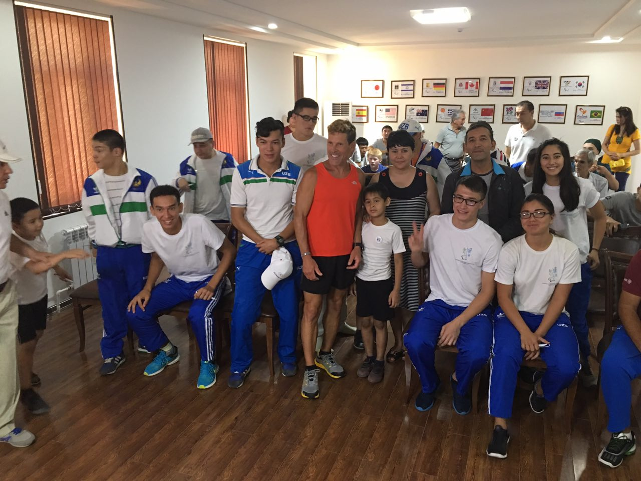 Meeting with youth at Paralympic Association of Uzbekistan