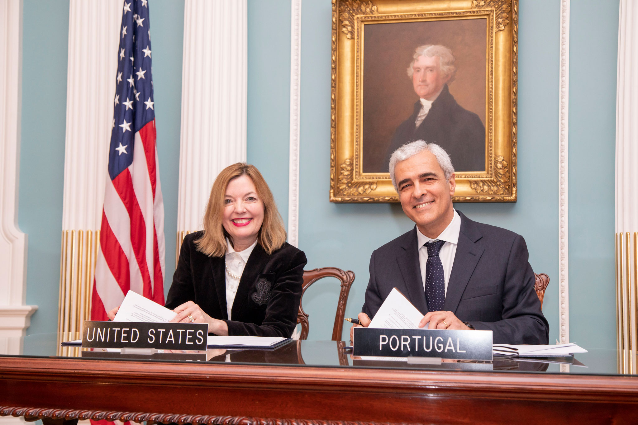 Assistant Secretary of State for Educational and Cultural Affairs Marie Royce and Ambassador Domingos Fezas Vital