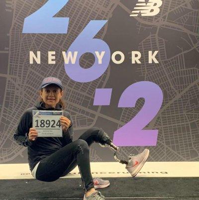 Kathy Pico at New York Marathon
