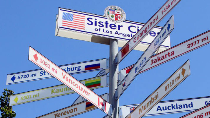 sister cities signs