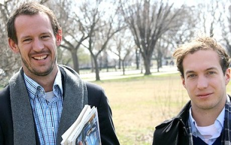 Gareth Parker and Will Emmett of Australia in Washington, DC during their IVLP.