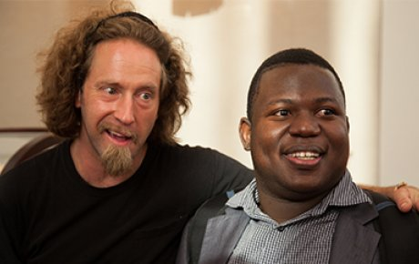 Comedian Josh Blue and Seychellois disability rights advocate and IVLP participant Naddy Zialor.