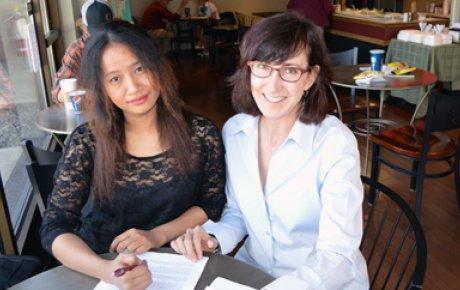 US Participant Leslie Jensen with Khaing Kyawt Kay of Burma.