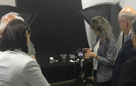Workshop participants learn about photographic techniques for documenting important cultural heritage