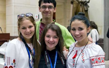 FLEX students on Capitol Hill for closing ceremony.