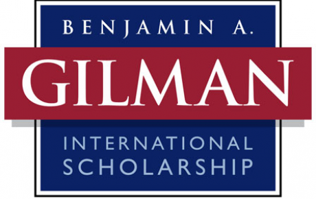 Gilman Program logo has red and blue background with program title