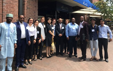 IVLP cohort of 16 government officials, advocates and civic leaders