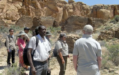 Mamadou Cisse visiting Chaco park with small group of people
